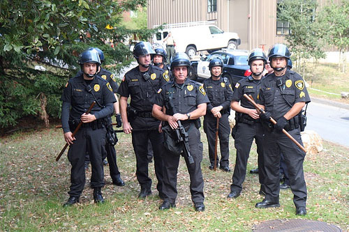Riot Police on UCSC Campus